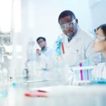 chemical engineer working in lab
