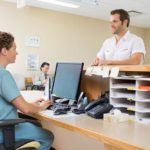 medical assistant working