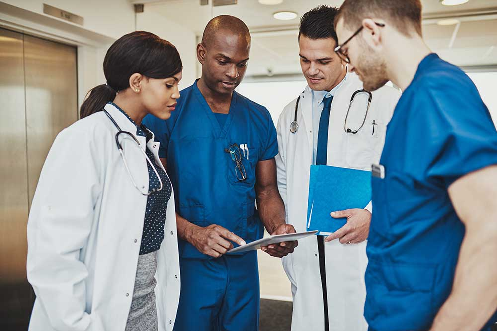 medical team in a meeting